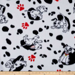 Disney Fleece 101 Dalmations White Fabric