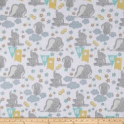 Disney Fleece Dumbo White Fabric