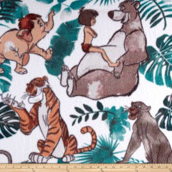 Disney Fleece Jungle Book White Fabric