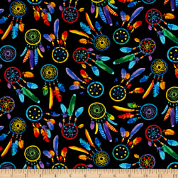 Timeless Treasures Out West Dreamcatchers Brite Fabric