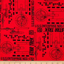 Star Trek: Galaxy Pop U.S.S. Enterprise Ruby Fabric