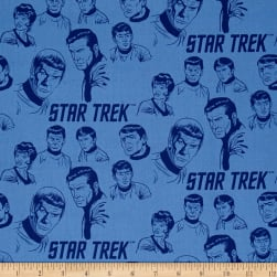 Star Trek: Galaxy Pop The Crew Blue Fabric