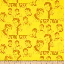 Star Trek: Galaxy Pop The Crew Sunshine Fabric