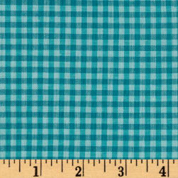 Cloud 9 Organic Yarn Dyed Gingham Check Rain/Turquoise