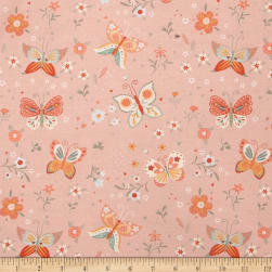 Bunny Tales Butterfly Pink Fabric