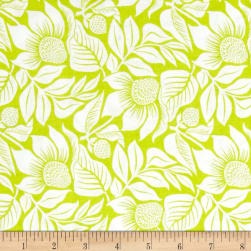 Modern Mixers III Large Floral Lime Fabric