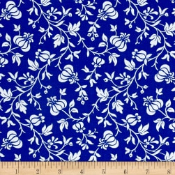 Modern Mixers III Vine Floral Blue