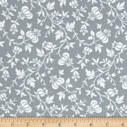 Modern Mixers III Vine Floral Gray Fabric