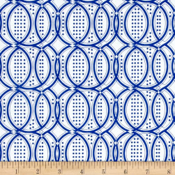 Modern Mixers III Chain Blue Fabric