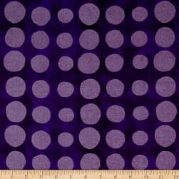 Pearlized Dot Purple Metallic Fabric