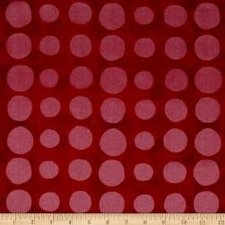 Pearlized Dot Red Metallic Fabric