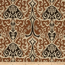 Magnolia Home Fashions Winchester Ikat Chocolate Fabric