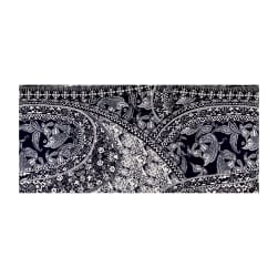 ITY Stretch Knit Paisley Resort Wear Navy White Fabric