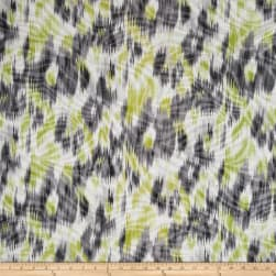 Jersey Knit Abstract Yellow and Gray Maze