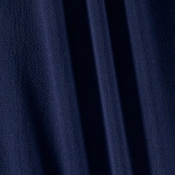Telio Pebble Crepe Dobby Solid Navy Fabric