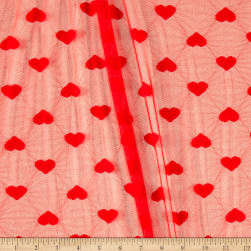 Telio Stretch Lace Cupid Heart Red Fabric