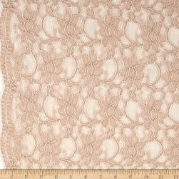 Telio Xanna Floral Lace Blush Fabric