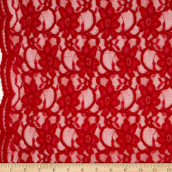Telio Xanna Floral Lace Red Fabric