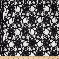 Telio Xanna Floral Lace Black Fabric