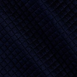 Telio Mini Quilted Knit Diamond Navy Fabric