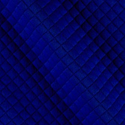 Telio Mini Quilted Knit Diamond Blue Fabric