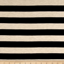 Jersey Knit Black Stripe on Eggnog