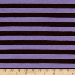 Jersey Knit Brown Stripe on Violet