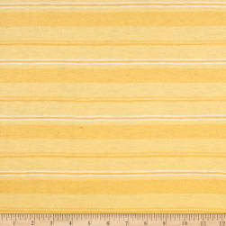 Jersey Knit White /Yellow Stripes