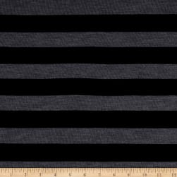 Lightweight Sweater Knit Stripe Black/Fog