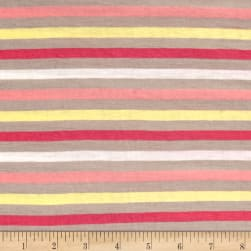 Jersey Knit Multi Stripe / Light Pink