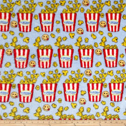 Whisper Plush Fleece Popcorn Blue Fabric