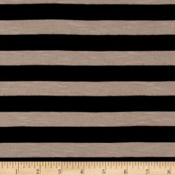 Jersey Knit Stripe Black/Tan