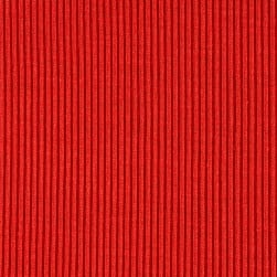Rib 2x1 Knit Solid Fire Orange