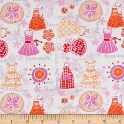 Kitchen Love Apron Strings White/Red/Multi Fabric