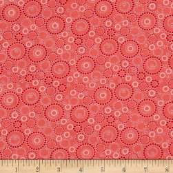 Kitchen Love Beaded Circles Light Red Fabric
