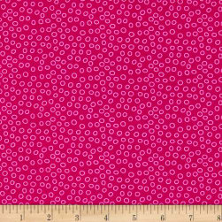 Lemon Squeezy Dots Hot Pink Fabric