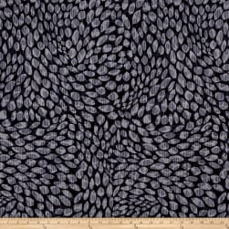 Kanvas Natures Pearl Pearlescent Shadow Leaf Black/Gray Fabric