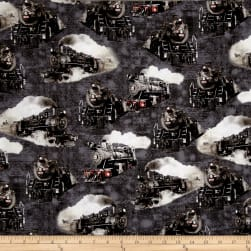 Kanvas Railway Express Steam Engines Steel Fabric