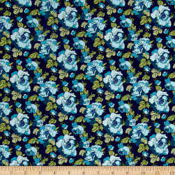 Chelsea Thames Deep Blue Fabric