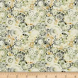 Irresistible Iris Lacey Medallions Green/Multi Fabric