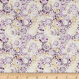 Irresistible Iris Lacey Medallions Purple/Multi Fabric