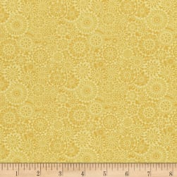 Irresistible Iris Tonal Medallions Yellow Fabric