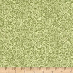 Irresistible Iris Tonal Medallions Light Green Fabric