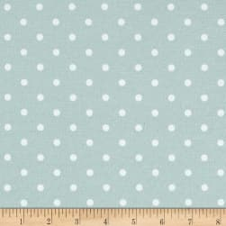 Premier Prints Indoor/Outdoor Mini Dot Blue Stone Fabric