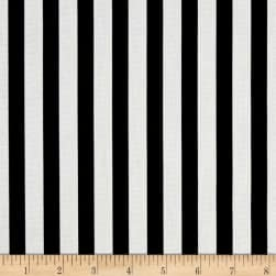 Premier Prints Basic Stripe Black Fabric