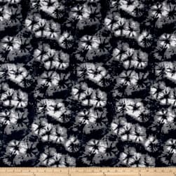 Liverpool Boho Floral Grey Fabric