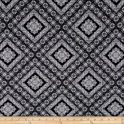 Textured Crepe Boho Chic Black Fabric