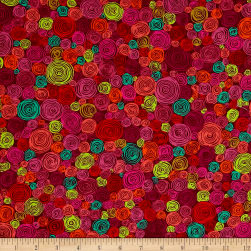Kaffe Fassett Rolled Paper Red