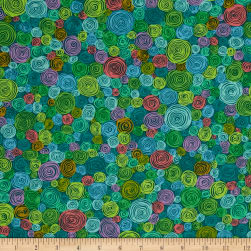Kaffe Fassett Rolled Paper Green Fabric