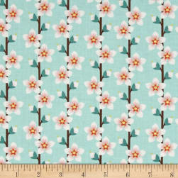 Delaware State Flower Peach Blossom Teal/Pink